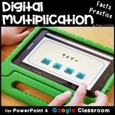 Multiplication Fact Fluency Digital Multiplication Practice