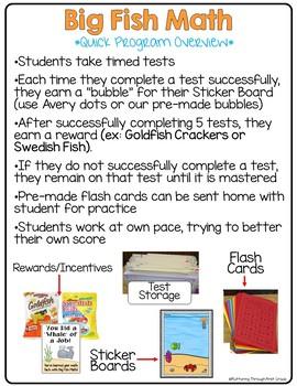 "Multiplication Math Facts Timed Tests- ""Big Fish Math"""
