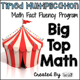 "Multiplication Math Facts Timed Tests-""Big Top Math"""