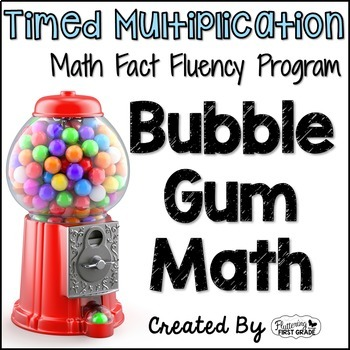 "Multiplication Math Facts Timed Tests-""Bubble Gum Math"""