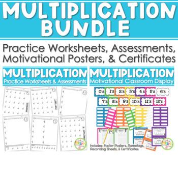 Multiplication BUNDLE Math Facts (Drills & Practice) & Mul