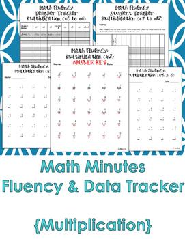 Multiplication Math Fluency and Data Tracker