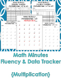 Multiplication Math Fluency and Data Tracker