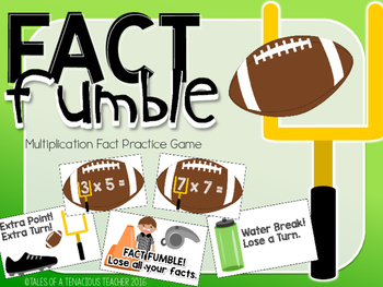 Multiplication Math Game: Fact Fumble