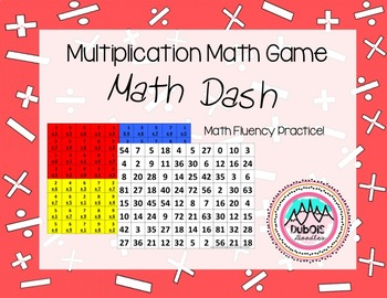 Multiplication Math Game - Math Dash
