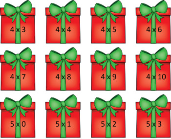 Multiplication Math Games ~ Christmas Tree