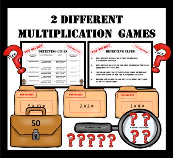 Multiplication Math Games ~ Detective/Agent