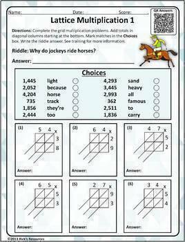 Math Puzzles Lattice Multiplication