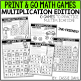 Multiplication Math Games (Print & Go)
