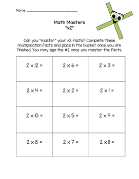 Multiplication Math Masters