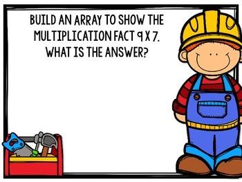 Multiplication Math Mats [a hands on building station]