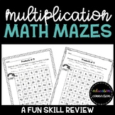 Multiplication Math Mazes