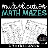 Multiplication Math Mazes