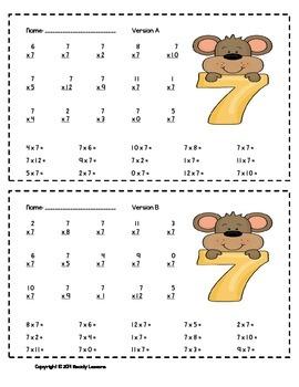 Multiplication Worksheets 3rd Grade Multiplication Fact Practice & Fluency