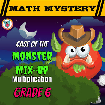 Multiplication Math Mystery Activity: Multiplying Wholes,