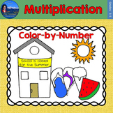 Multiplication Math Practice End of Year Color by Number