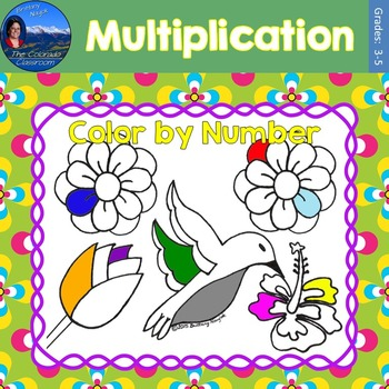 Multiplication Math Practice May Flowers Color by Number