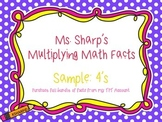 Multiplication Math Rap Songs SAMPLE