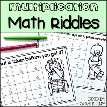 Multiplication Math Riddles