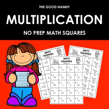 Multiplication Math Squares