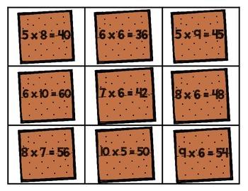 Multiplication Math Station: S'more Multiplication Match