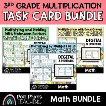 Multiplication Task Cards for Math Center
