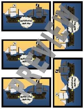 Multiplication Math War Card Game (MMW)