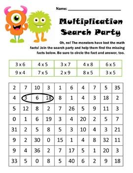 Multiplication Math Worksheet Bundle