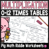 Multiplication Riddles Worksheets for 0 to 12
