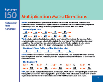 Multiplication Mats - Learn, understand and memorize your times tables