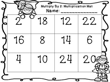 Multiplication Mats- Multiplication Fact Practice