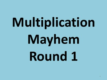 Multiplication Mayhem - 3.OA.C.7 (3.OA.7) Mastery of Multiplication Facts