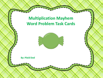 Multiplication Mayhem Word Problem Task Cards