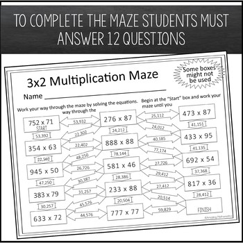 Multiplication Maze - 3x2