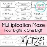 Multiplication Maze - 4x1