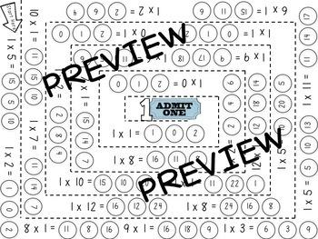 Multiplication Maze Activity Centers - Math and Motor Skills Fun