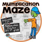 Multiplication Maze ⍨ Halloween Math Activity ⍨ 3rd grade, 4th grade