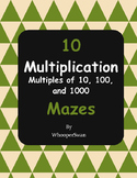 Multiplication Maze (Multiplying by 10, 100, and 1000)
