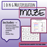 Multi-Digit Multiplication Maze with Reference Sheet!