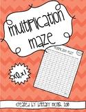 Multiplication Maze x0, x1