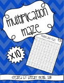 Multiplication Maze x10