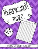 Multiplication Maze x3