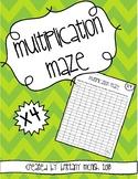 Multiplication Maze x4