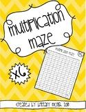 Multiplication Maze x6