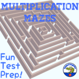 Multiplication Mazes Math Test Prep