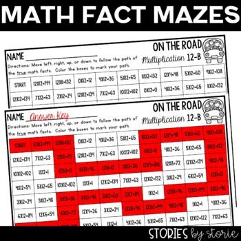 Multiplication Mazes