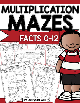 Multiplication Mazes! Printables for facts 0-12