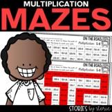 Multiplication Mazes   Printable and Digital
