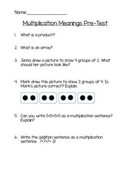 Multiplication Meanings Assessment