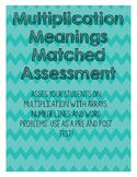 Multiplication Meanings Assessment